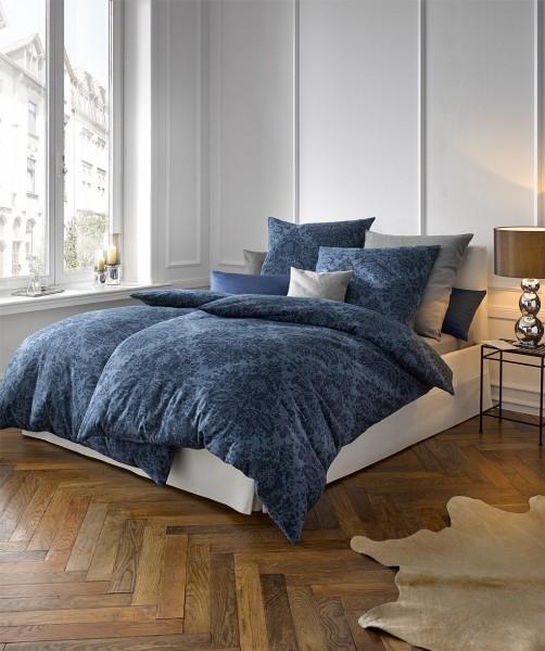 Blaue Jacquard Flanell Bettwäsche Mit Ornamet Design Von Fleuresse