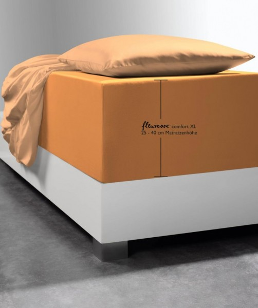 Bettlaken für Boxspring-Betten fleuresse comfort XL orange