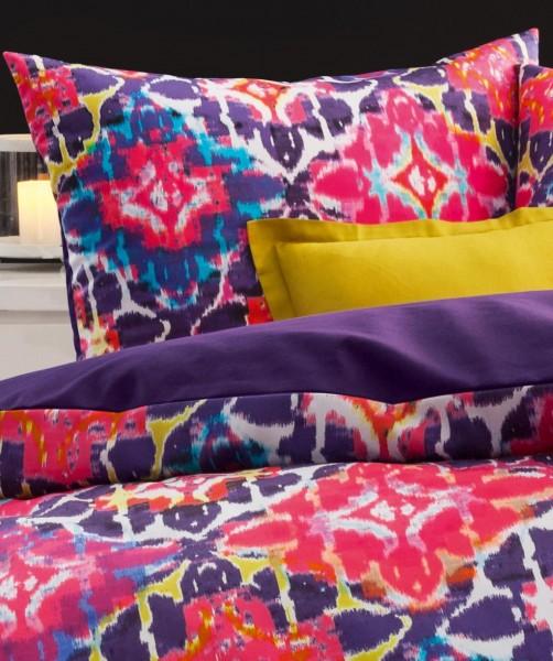 fleuresse bed art Blumen Wendebettwäsche pink graipfruit 135x200