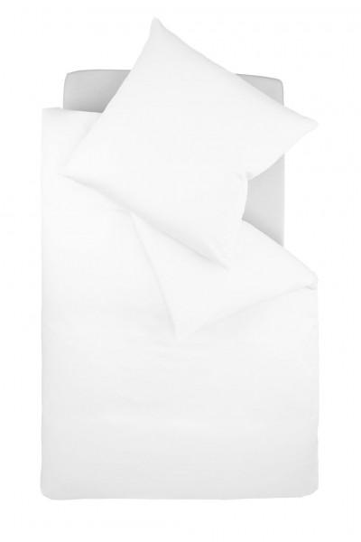 Bügelfreie Jerseybettwäsche von fleuresse - uni weiß