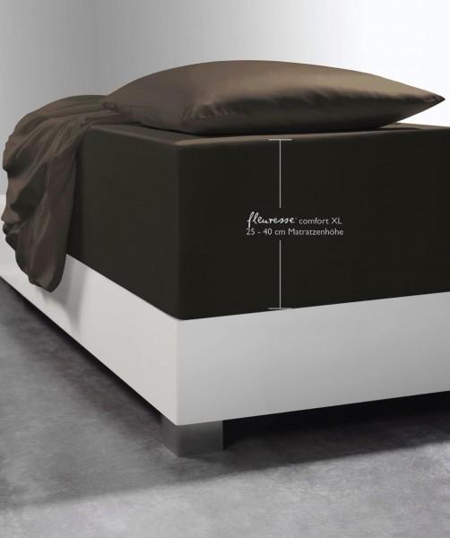 Boxspring-Spannlaken fleuresse comfort XL espresso braun