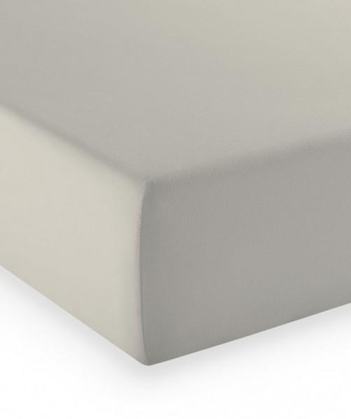 Premium Jersey fleuresse comfort Spannlaken porzellan weiß