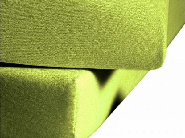 Mako Satin fleuresse colours Spannbettlaken apfel grün