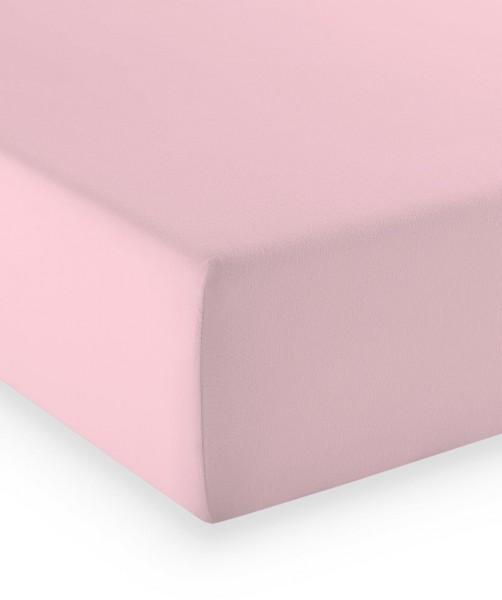 Premium Jersey fleuresse comfort Spannbettlaken rosa
