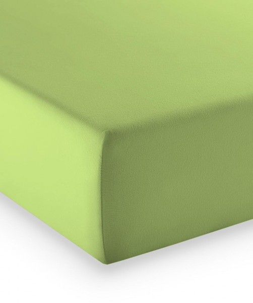 Premium Jersey fleuresse comfort Spannlaken apfel grün