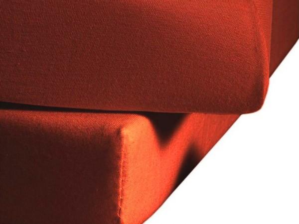 Mako Satin fleuresse colours Spannbettlaken cayenne orange