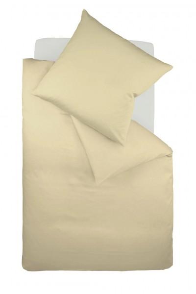 Bügelfreie Jersey-Bettwäsche von fleuresse - uni sand beige