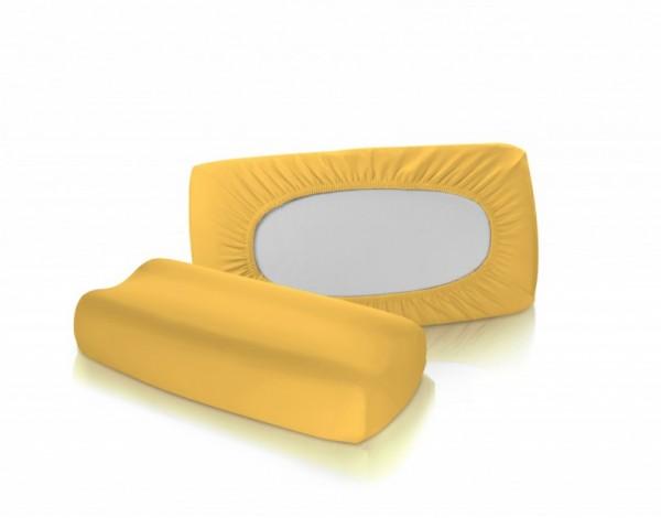 Bezug für Nackenstützkissen - fleuresse vital comfort in Sonne Gelb