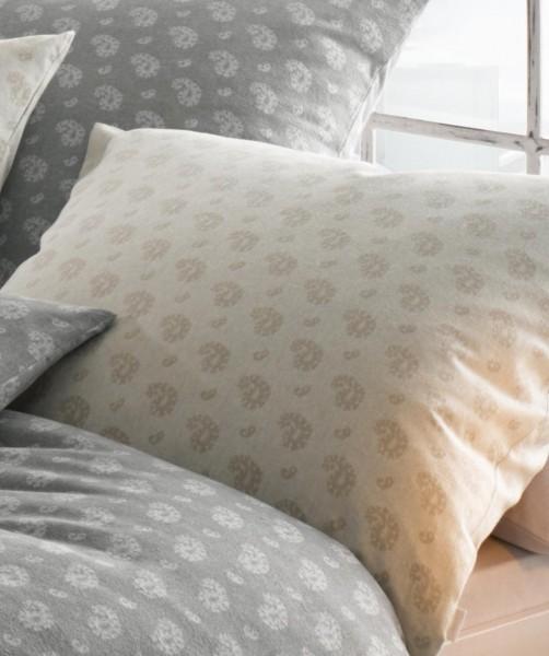 Jacquard Flanell Bettwäsche Paisley Muster in Beige von fleuresse lech 135x200