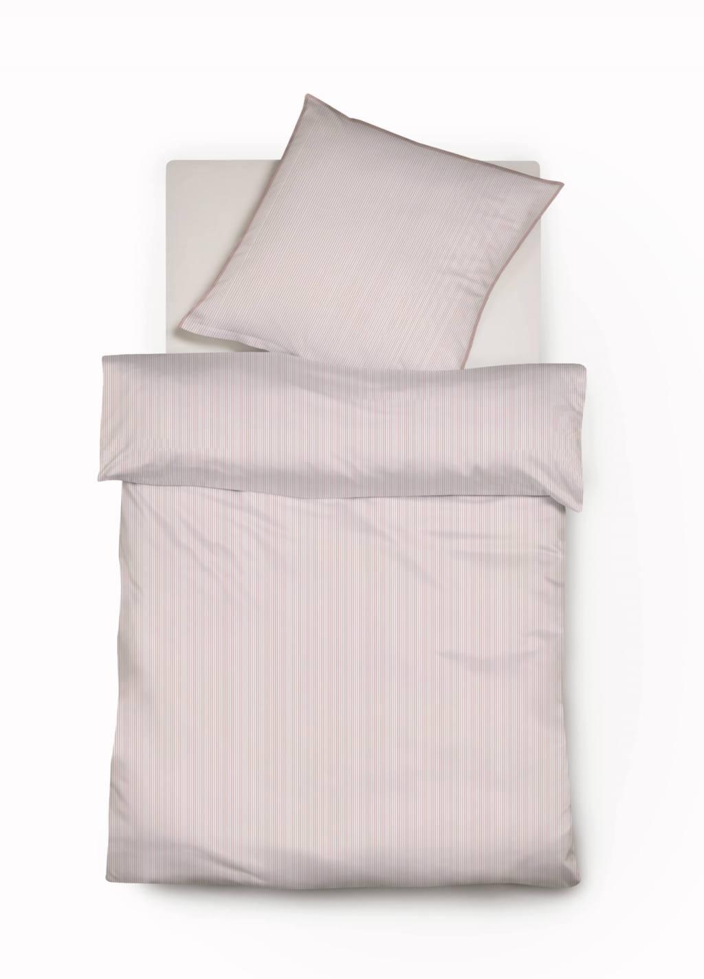 mako satin bettw sche mit rosa nadelstreifen mit paspel von fleuresse modern life 200x200. Black Bedroom Furniture Sets. Home Design Ideas