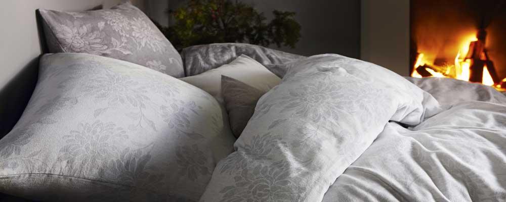 Biber Bettwäsche 155 x 220 Weiß Uni Flanell Winter Bettbezug Garnitur Bettbezüge