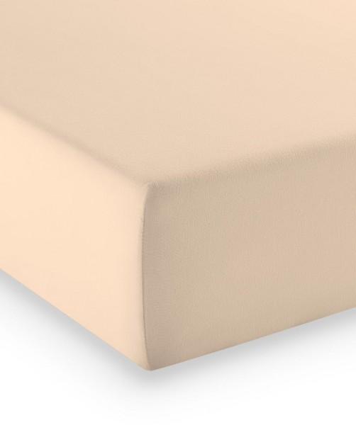 Premium Jersey fleuresse comfort Spannlaken puder nude