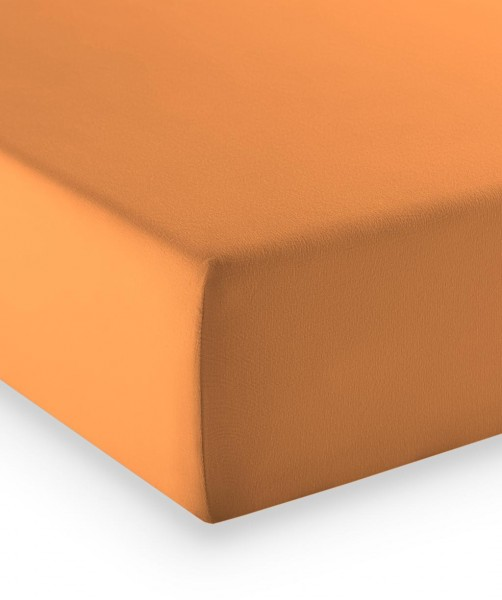 Premium Jersey fleuresse comfort Spannbettlaken orange