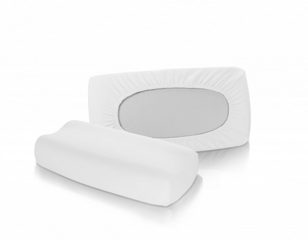 Nackenstütz-Kissenbezug von fleuresse vital comfort in Weiß