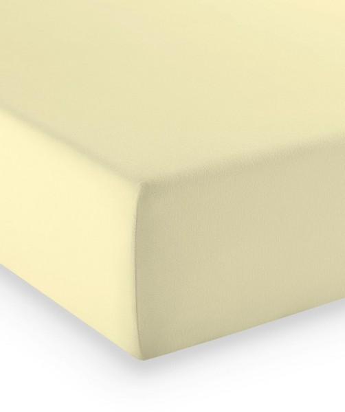 Premium Jersey fleuresse comfort Spannbettlaken vanille