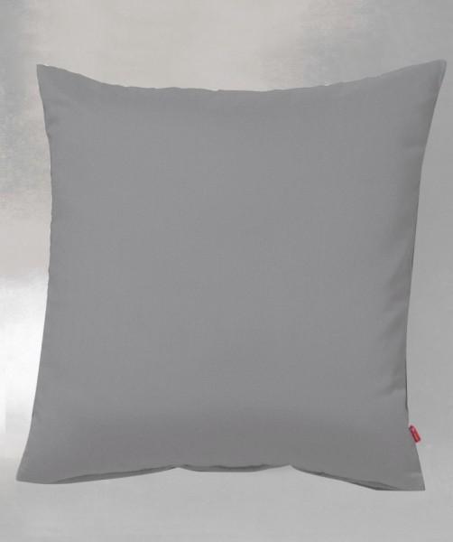 fleuresse lech - Uni Flanell Kissenbezug in Granit Grau in 40x40 und 40x80