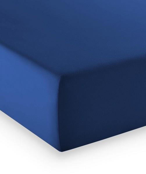 Premium Jersey fleuresse comfort Spannlaken royal blau
