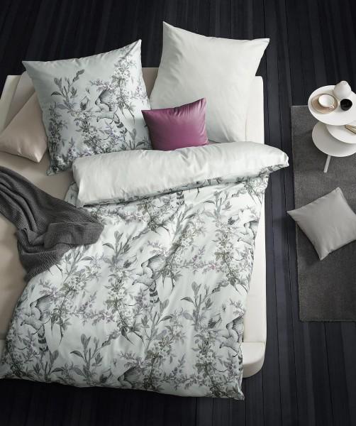 Exklusive Wendebettwäsche mit Vogeldesign von fleuresse bed art in Grau 155x220