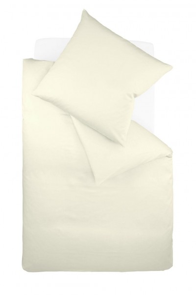 Bügelfreie Jerseybettwäsche von fleuresse - uni creme