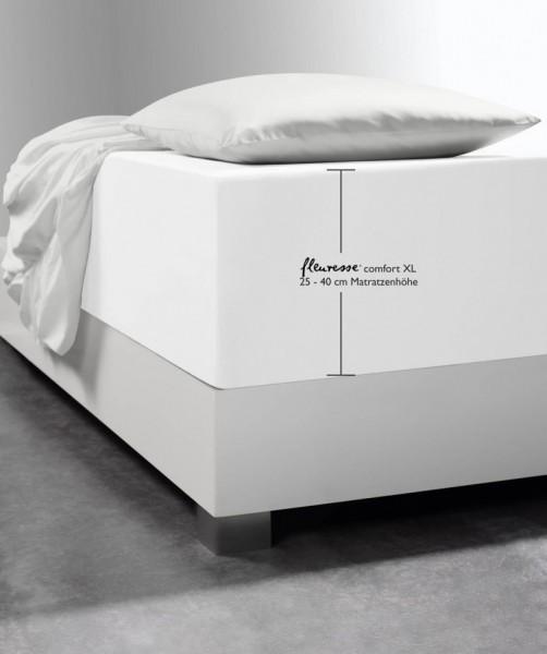 Luxus Boxspring Spannlaken fleuresse comfort XL weiss