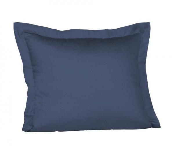 fleuresse Mako Satin Kissenhülle jeans blau