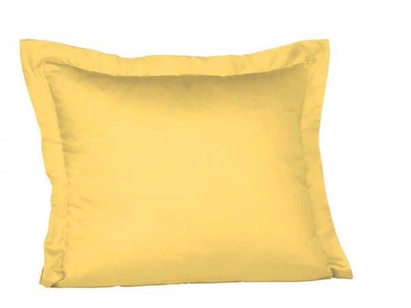 fleuresse Mako Satin Kissenbezug zitrone gelb