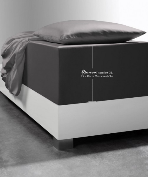 Laken Boxspringsystem fleuresse comfort XL anthrazit grau