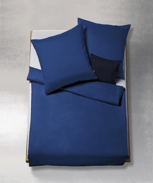 lech - Uni Bettwäsche aus Flanell von fleuresse royal blau 240x220