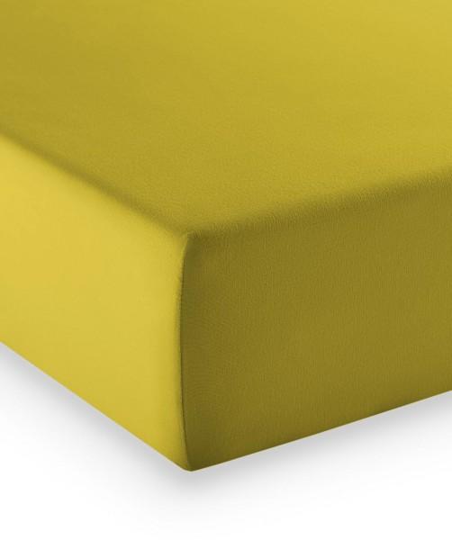 Premium Jersey fleuresse comfort Spannlaken olive gold