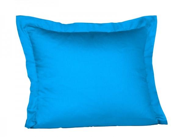 fleuresse Mako Satin Kissenbezug meeres blau