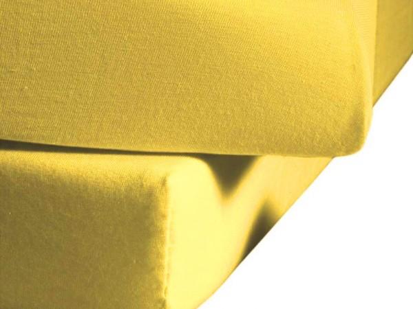 Jersey Spannbettlaken fleuresse Jenny C zitrone gelb