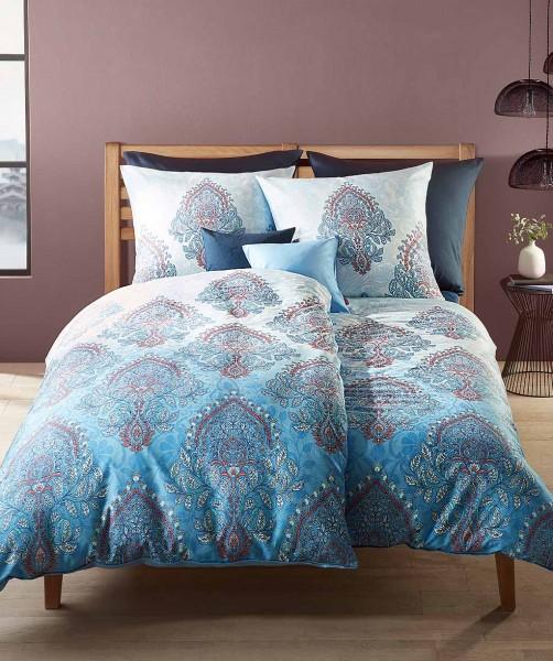 Moderne Ornament Bettwäsche mit Wendeseite von fleuresse bed art in Blau 240x220