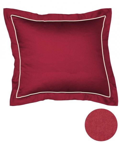 Einfarbig roter Flanell Kissenbezug mit Stehsaum von fleuresse lech 40x40