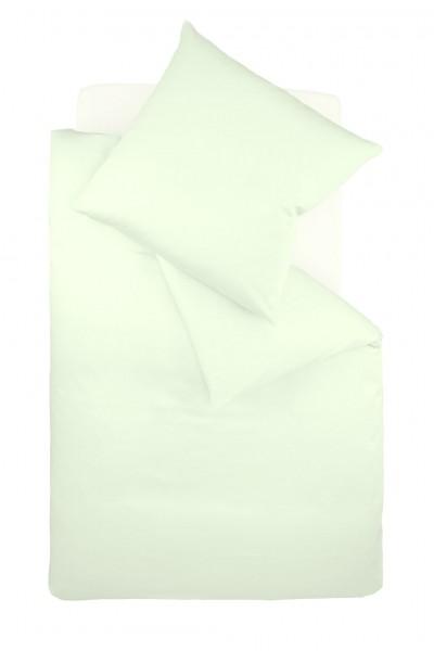 Bügelfreie Unibettwäsche Jersey fleuresse - jade grün