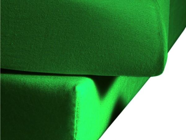 Mako Satin fleuresse colours Spannbettlaken gras grün