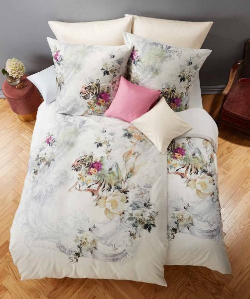 Luxus Tiger Mako Satin Bettwäsche in edlem Grau Weiß von fleuresse bed art 200x200