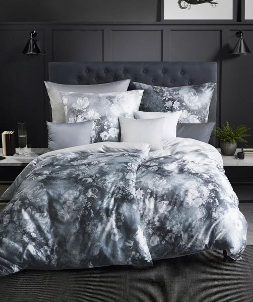 Luxus Blumenbettwäsche mit Wende von fleuresse bed art in Grau 135x200