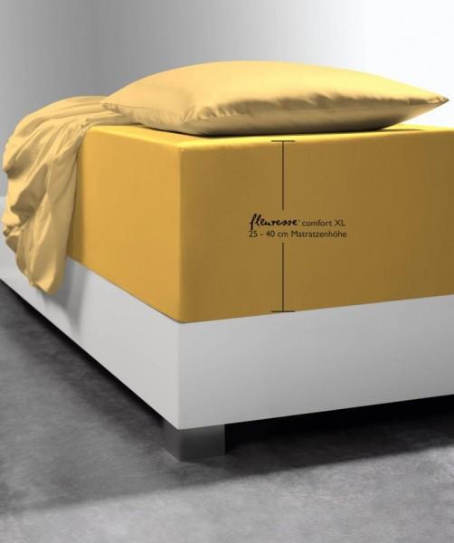Spannlaken Boxspring-System fleuresse comfort XL gelb